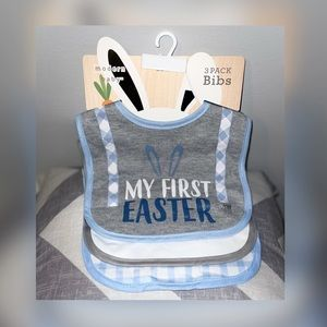 💫Baby's my first Easter 3 bib set NEW 💫